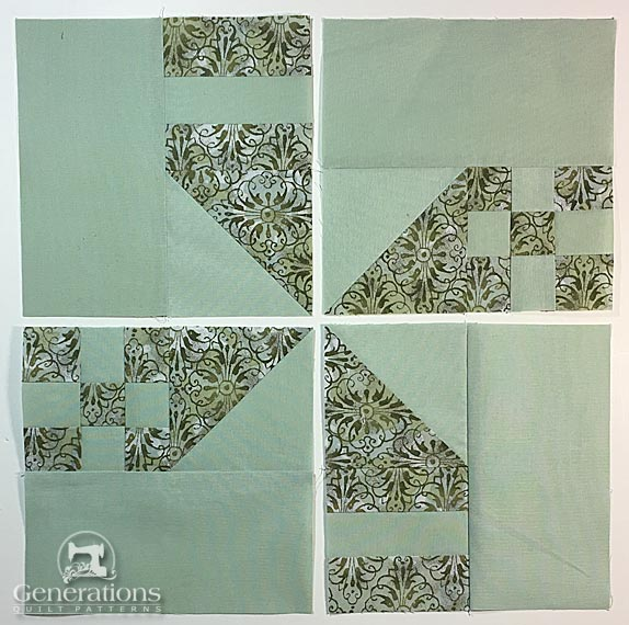 Lady of the White House Quilt Block: 12