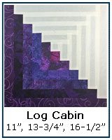 Log Cabin quilt block tutorial, traditionally pieced