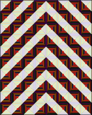 Log Cabin Quilt - Chevron setting