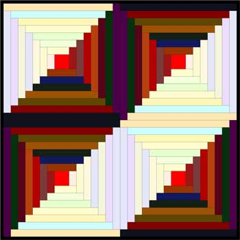 Quilt Blocks: Mock Log Cabin Quilt Block Pattern