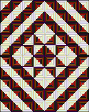 Log Cabin Quilt - Star setting