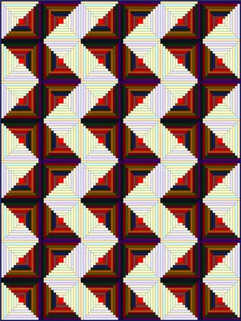Log Cabin Quilt - ZigZag setting