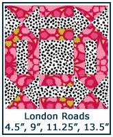 London Roads quilt block tutorial
