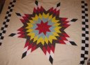 Queen Size Lone Star Quilt <br />(click the thumbnails below for larger images.)<br />