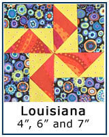 Louisiana quilt block tutorial, paper piecing and traditional piecing methods