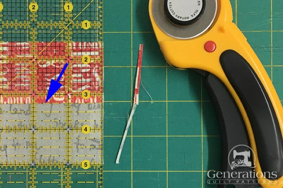 Straighten the edge with your rotary cutter