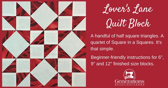 A Sweet Lover's Lane Quilt Block: 6