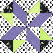Lucky Pieces quilt block design