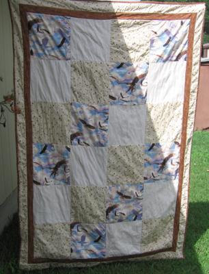 Husband's quilt