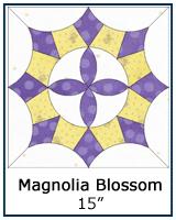 Magnolia Blossom quilt block templates