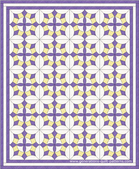 Magnolia Blossom Quilt Block Pattern Templates - 15