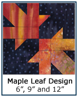 Maple Leaf Design quilt block tutorial