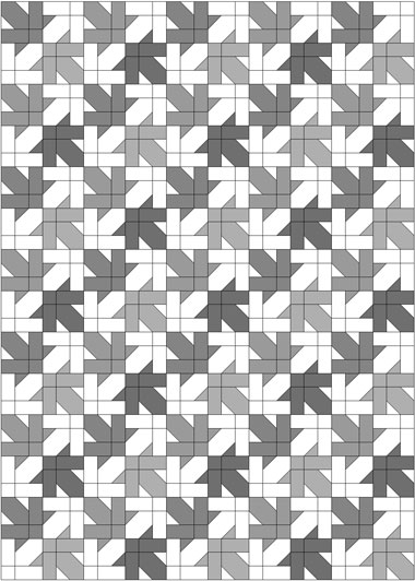 Maple Leaf Design, quilt with light background fabric