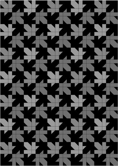 Maple Leaf Design, quilt with dark background fabric
