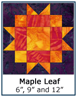 Maple Leaf quilt block tutorial
