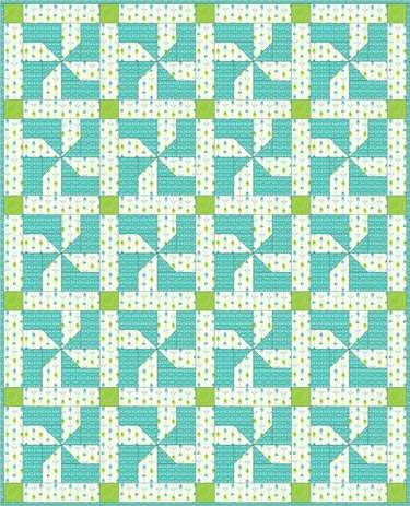 Baby quilt using the Maypole Dance quilt block