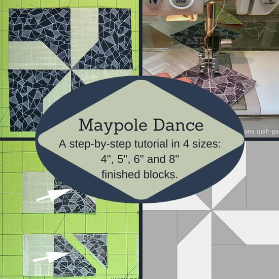 The Maypole Dance quilt block tutorial starts here.