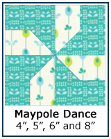 Maypole Dance quilt block tutorial