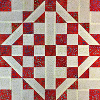 Click here for the tutorial to make a Medieval Walls quilt block