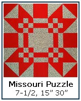 Missouri Puzzle quilt block tutorial