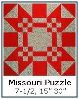 Missouri Puzzle quilt block tutorial
