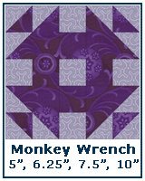 Monkey Wrench variation - Quilt Block Tutorial