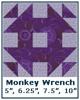 Monkey Wrench variation - Quilt Block Tutorial