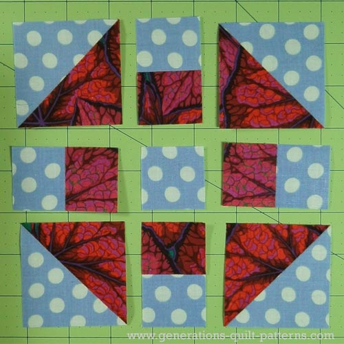 Monkey Wrench Quilt Block Tutorial 5 Quot 7 1 2 Quot 10 Quot And