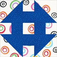 Monkey Wrench quilt block design