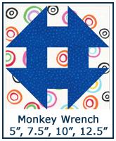 Monkey Wrench quilt block tutorial