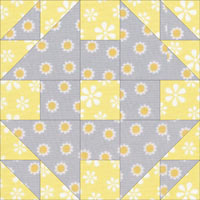 Monkey Wrench quilt block variation