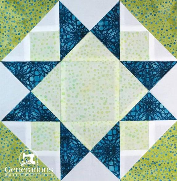 The Morning Star quilt block