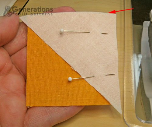 Pin #2 to #3 matching the straight edges.