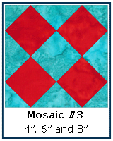 Mosaic #3 Quilt Block Tutorial