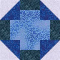 Mosaic quilt block design