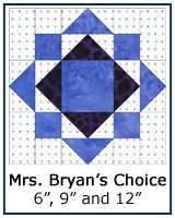Mrs. Bryan's Choice quilt block tutorial