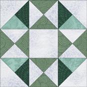 Mystery Flower Garden quilt block