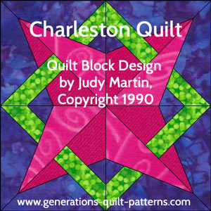 """Charleston"" Free Modern Quilt Block Pattern designed by Julie Baird from Generations Quilt Patterns"
