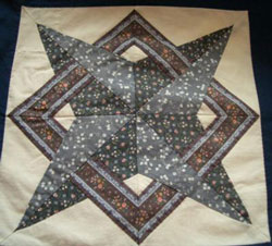 Folded Star Quilt Block http://www.generations-quilt-patterns.com/nells-star-quilt-block.html