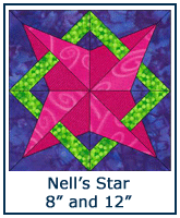 Nell's Star quilt block