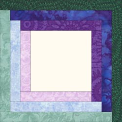 Log Cabin quilt pattern - Block variation 1
