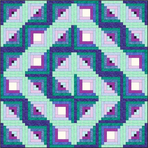 Log Cabin quilt pattern - Design 4