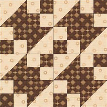 New Double Four Patch quilt block in two fabrics
