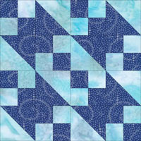 New Double Four Patch quilt block