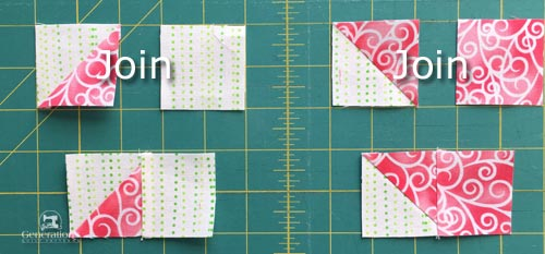 Sew one set of corners