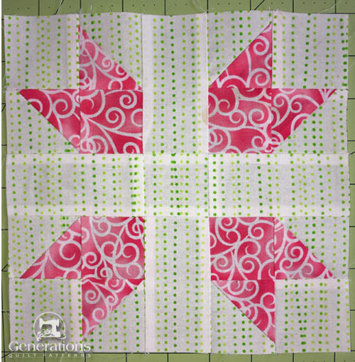 Stitched New England quilt block
