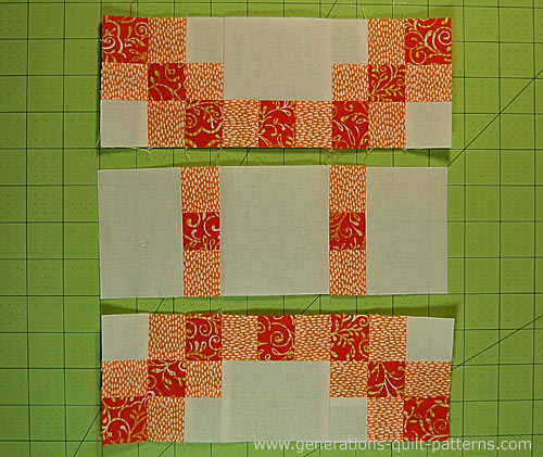 Stitch the rows together
