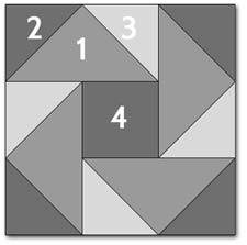 Night Vision quilt block design