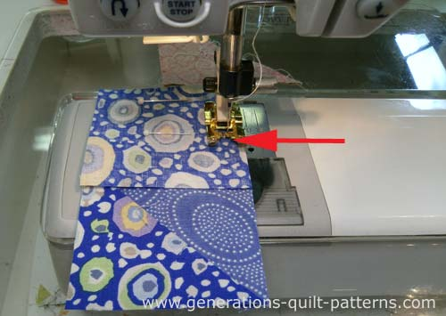 The first seam is a partial seam, sew it only about half way