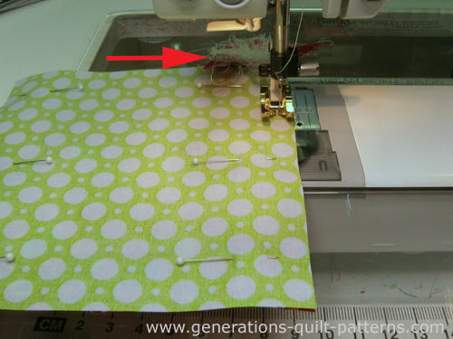 Sew the seams of two opposite sides